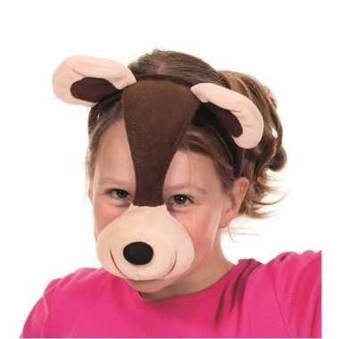 Beren dieren masker met geluid
