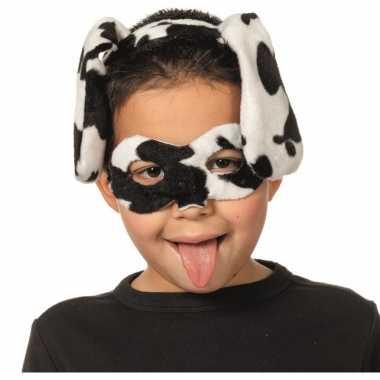 Dalmatier dieren masker en tiara voor kinderen