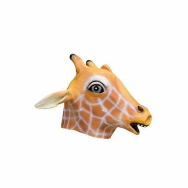 Dieren masker giraffe van latex