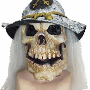Halloween doodshoofd dieren masker soldaat