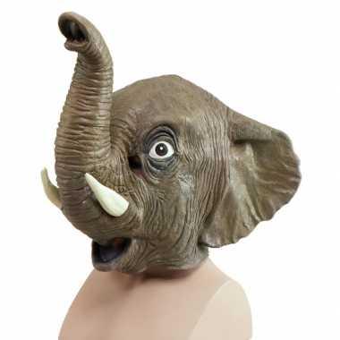 Halloween Olifanten dieren masker voor volwassenen