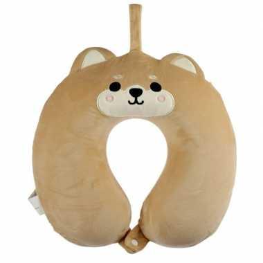 Hond/puppy nekkussen met ophanglus voor kinderen