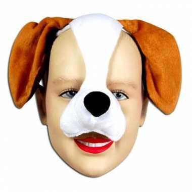 Honden diadeem dieren masker met geluid