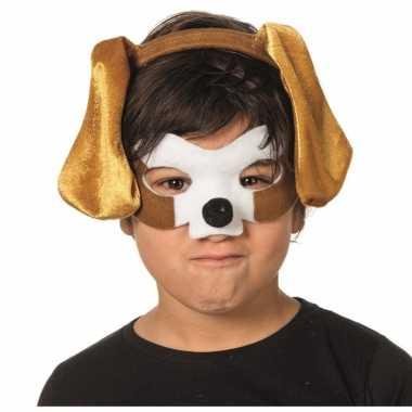 Honden dieren masker en tiara voor kinderen