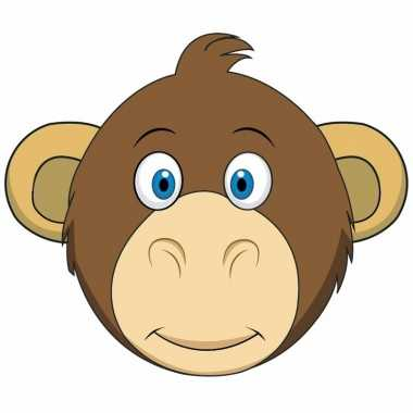 Kartonnen apen dieren masker voor kinderen