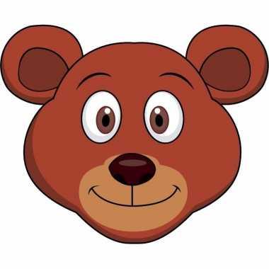 Kartonnen beren dieren masker voor kinderen