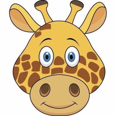 Kartonnen giraffe dieren masker voor kinderen