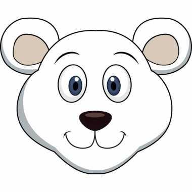 Kartonnen ijsberen dieren masker voor kinderen