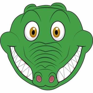 Kartonnen krokodillen dieren masker voor kinderen