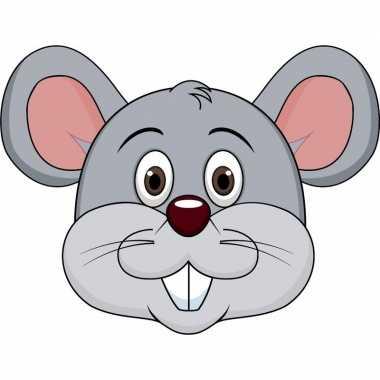 Kartonnen muizen dieren masker voor kinderen