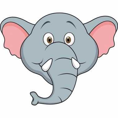 Kartonnen olifanten dieren masker voor kinderen
