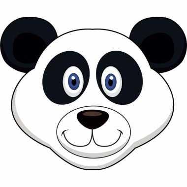 Kartonnen panda dieren masker voor kinderen
