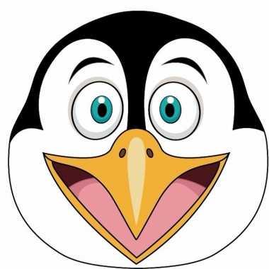 Kartonnen pinguin dieren masker voor kinderen