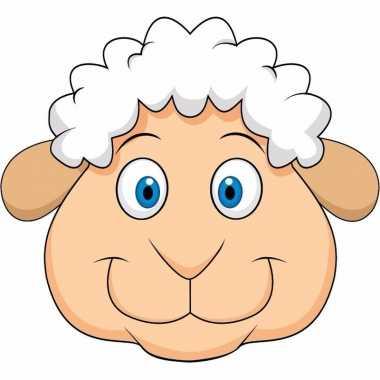 Kartonnen schaap/lammetje dieren masker voor kinderen