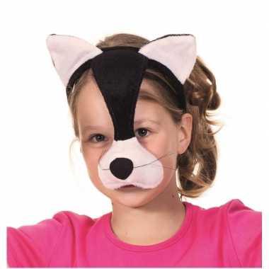 Katten dieren masker met geluid