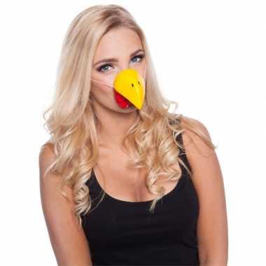 Kip dierenneus dieren masker voor volwassenen