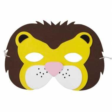 Leeuw foam dieren masker voor kinderen