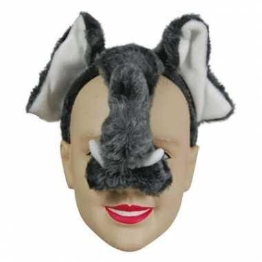 Olifant diadeem dieren masker met geluid