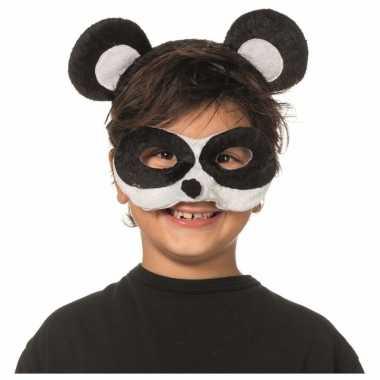 Panda dieren masker en tiara voor kinderen