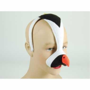 Pinguin dieren masker aan diadeem