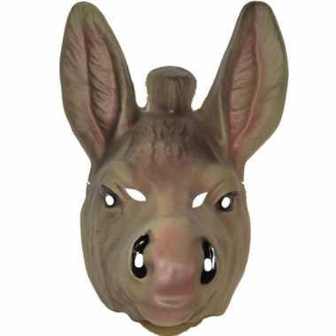 Plastic ezel dieren masker voor volwassenen