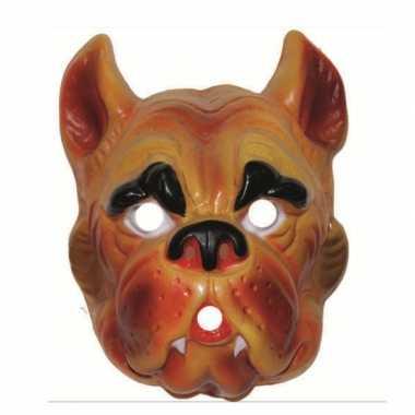 Plastic hond dieren masker voor volwassenen