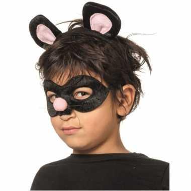 Ratten dieren masker en tiara voor kinderen
