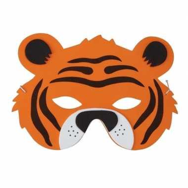 Tijger foam dieren masker voor kinderen