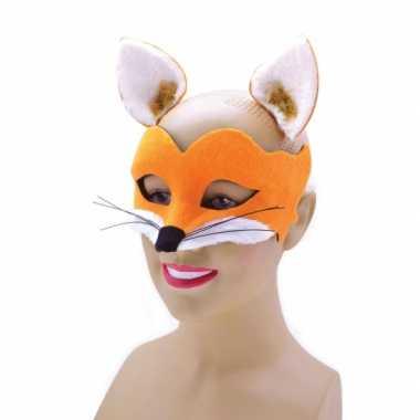 Vossen dieren masker met oortjes