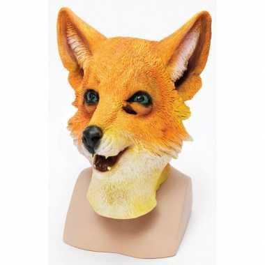 Vossen dieren masker voor volwassenen
