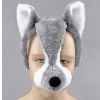 Wolven dieren masker met geluid