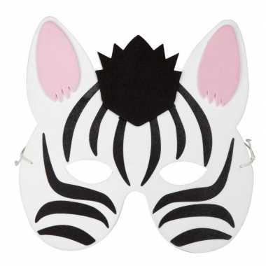 Zebra foam dieren masker voor kinderen