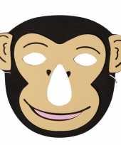 Aap foam dieren masker voor kinderen