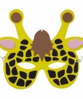 Giraf foam dieren masker voor kinderen