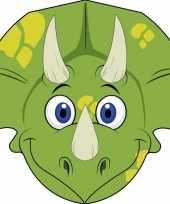 Kartonnen dinosaurus dieren masker voor kinderen