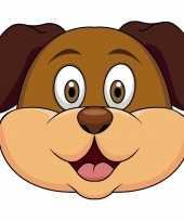 Kartonnen honden dieren masker voor kinderen