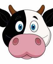Kartonnen koeien dieren masker voor kinderen