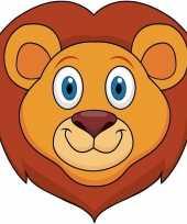 Kartonnen leeuwen dieren masker voor kinderen