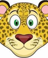 Kartonnen luipaarden dieren masker voor kinderen