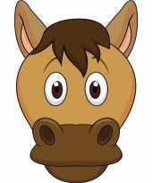 Kartonnen paarden dieren masker voor kinderen