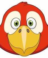 Kartonnen papegaai dieren masker voor kinderen