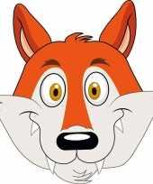 Kartonnen vossen dieren masker voor kinderen