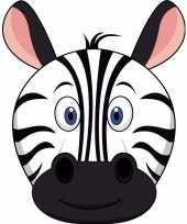 Kartonnen zebra dieren masker voor kinderen