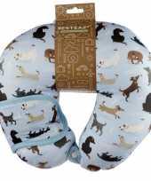 Nekkussen met slaap dieren masker hond print voor kinderen
