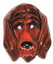 Plastic honden dieren masker voor volwassenen